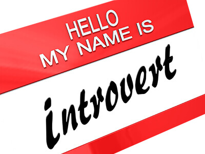 "Name tag with ""hello, my name is introvert"" written"