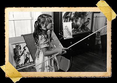 Child Laura Teaching - Vintage Frame