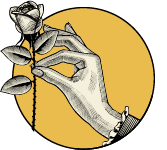 Handing holding a rose