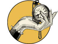 Hand holding out a pocket watch