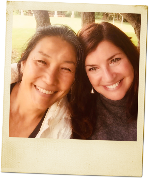 Laura Reid with client Chikako