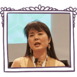 Dr. Megumi Okugiri speaking at a women's leadership event